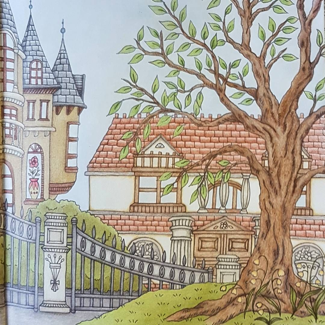 Romantic Country Coloring Book 2, Page 16 | Romantic country ideas ...