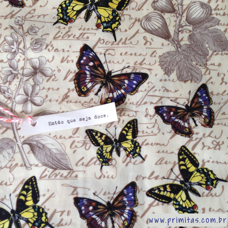 Toda a delicadeza da fronha borboletas nessa estampa!!