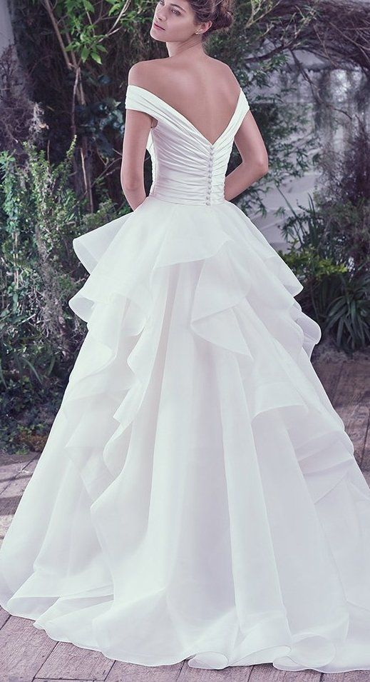 3d247a96b06 The Ultimate Guide to Wedding Gowns for Curvy Brides from Whitney of  CurveGenius - Zulani wedding dress by Maggie Sottero accentuates the  natural curve of ...
