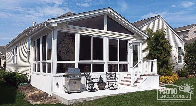 A Simple But Elegant Addition Four Season Vinyl Sunroom With