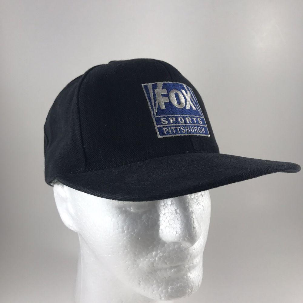 online store ed30b 07c1d ... racing 27b29 3bf4a  inexpensive fox sports pittsburgh home team  attitude black baseball cap snapback hat ebay 4259c cb9f9