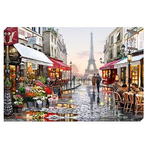 By richard macneil paris flower shop print on canvas johnlewis com