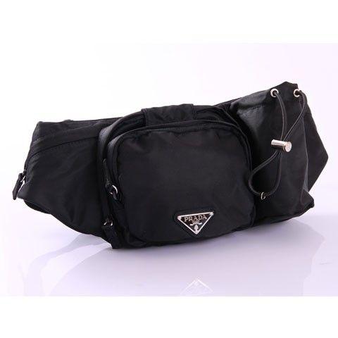 110ca72dcf5d PRADA WAIST BAG BLACK VA0056