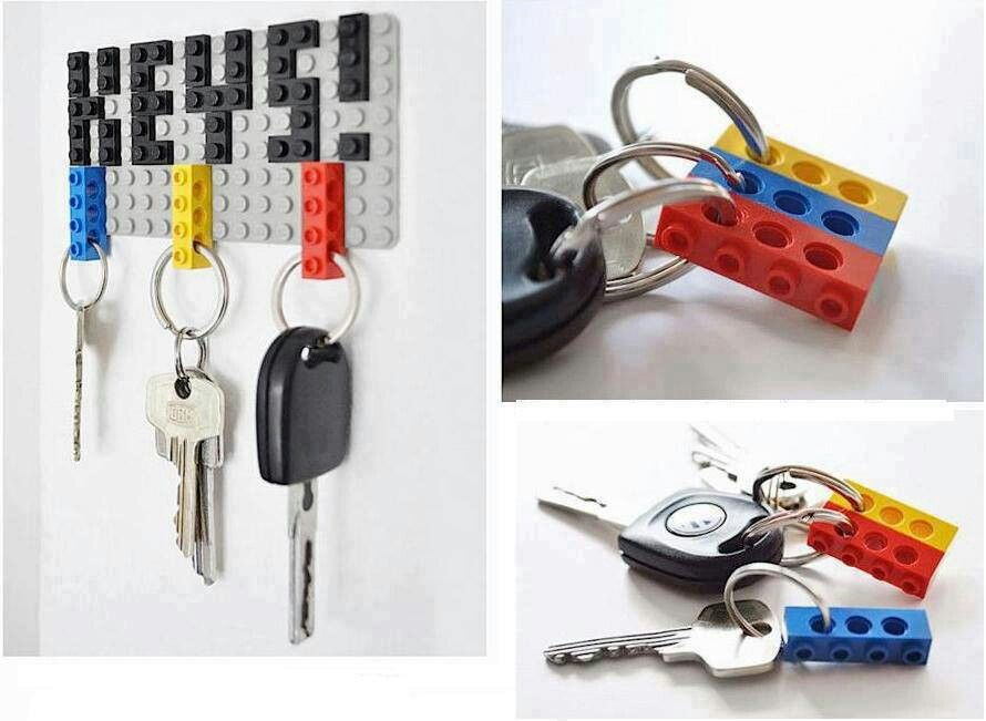 Cool Key Hook Idea Lego Key Holders Key Holder Diy Keychain