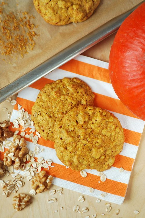 Kürbis-Haferflocken-Kekse
