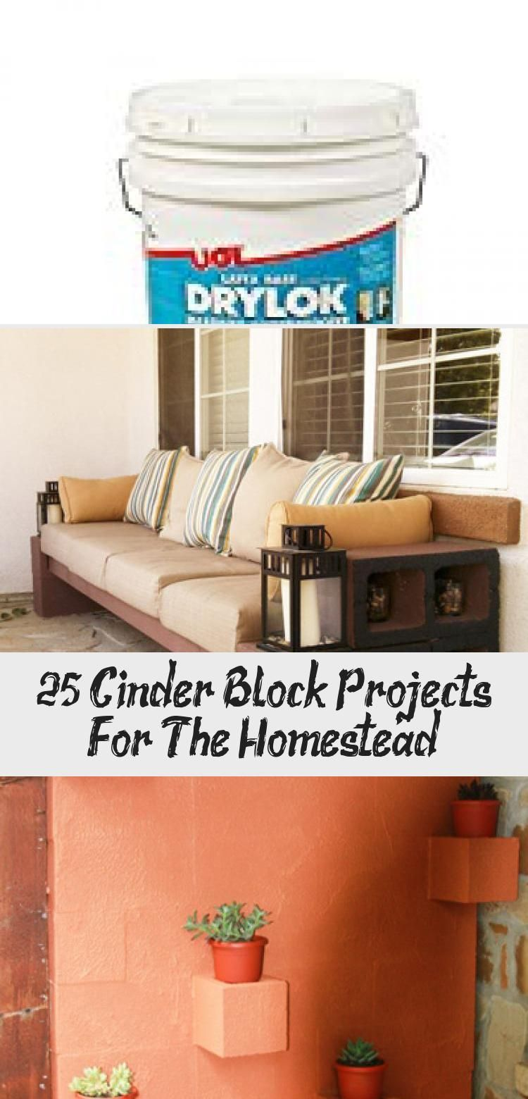 25+ Cinder Block Projects For The Homestead in 2020 (With ...