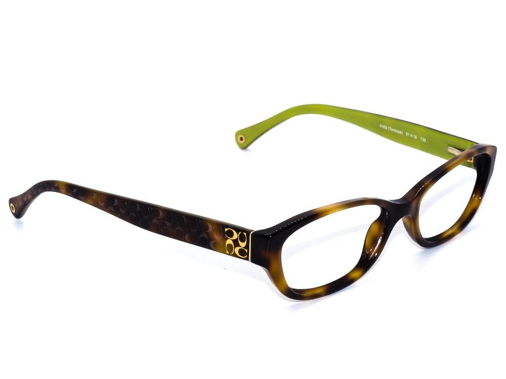 aa1d6c6e2c Coach Women s Eyeglasses HC 6002 Cecilia 5052 Tortoise   Green Frame 51  16  135