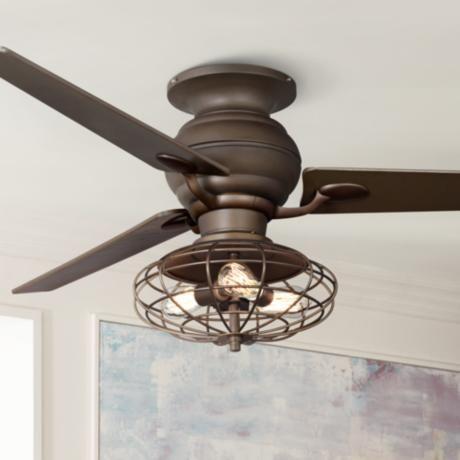 60 Quot Casa Spyder Nostalgic Industrial Bronze Ceiling Fan