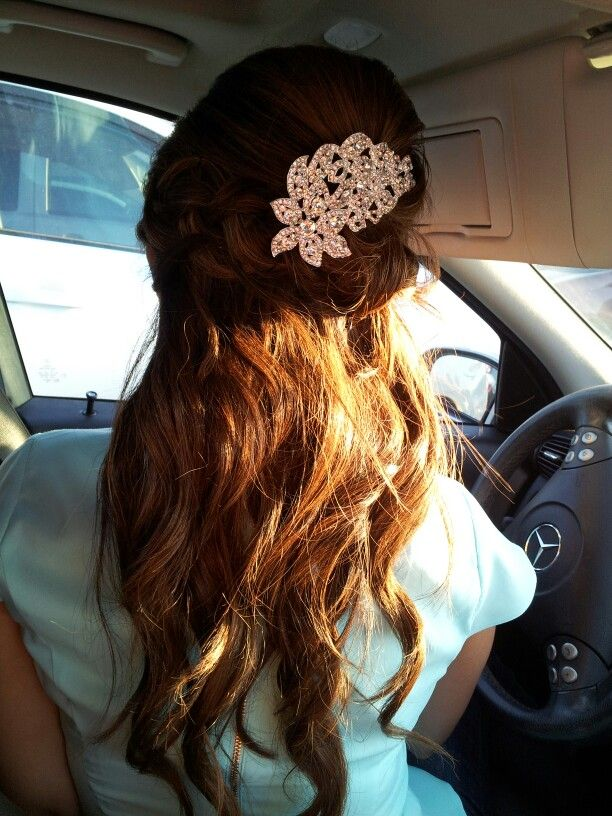 My wedding hair do test. Luv it!