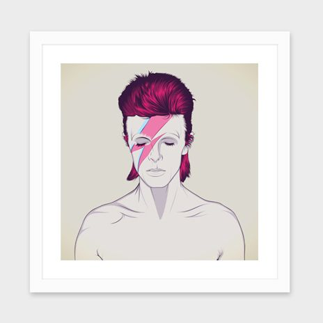 """""""David Bowie"""", Numbered Edition Fine Art Print by CranioDsgn - From $25.00 - Curioos"""