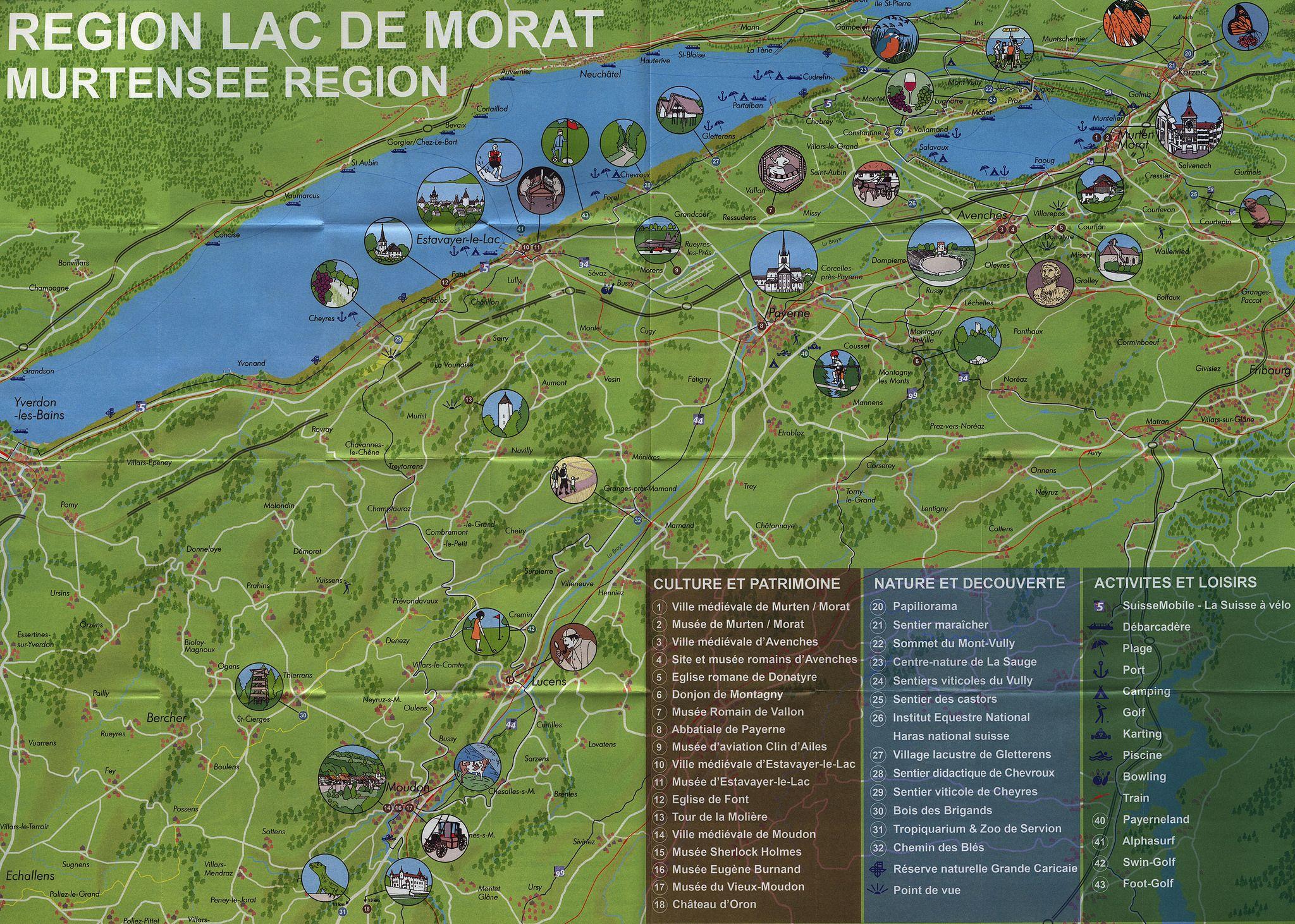 Murtensee Region Region Lac de Morat MurtenMorat Vully