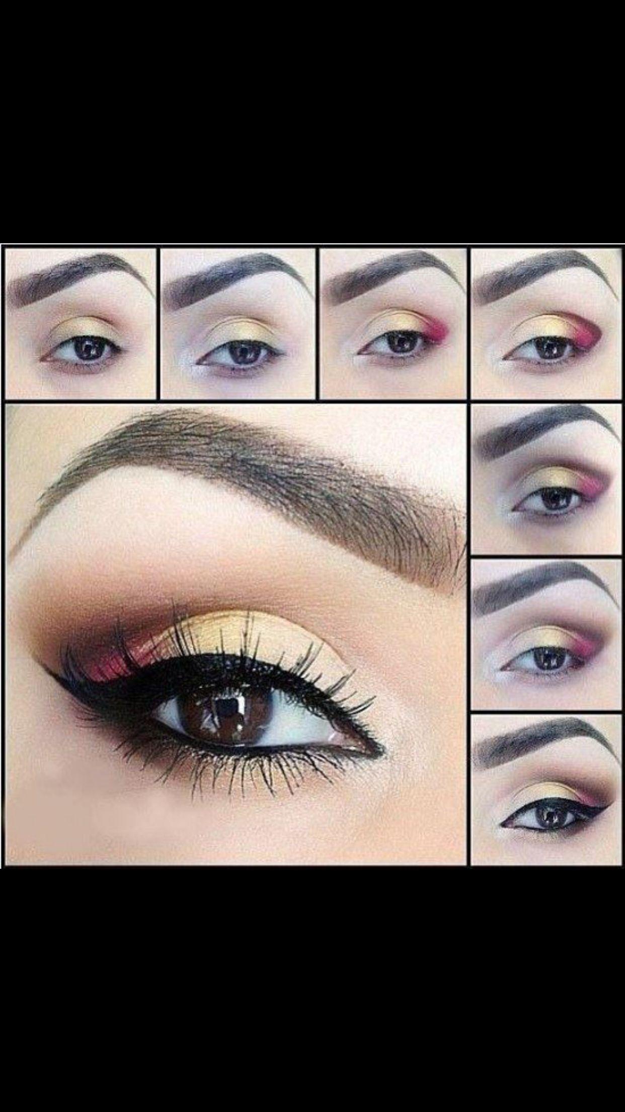 Ojos maquillaje colores