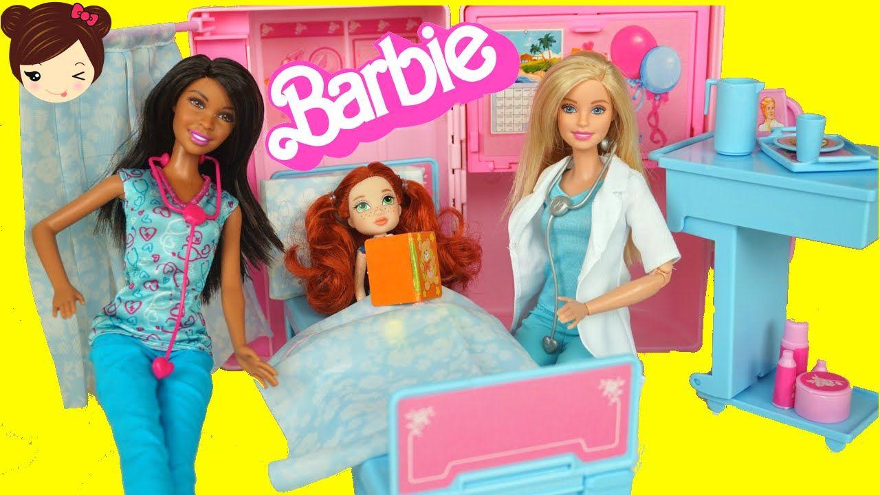 Recuperar harina Refinería  Hospital de Barbie Doctora y Enfermera - <b>Juguetes</b> de Barbie -  YouTube | Barbie doctora, Barbie, Juguetes
