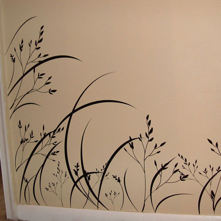 Wispy Sea Grass Vinyl Wall Decals For By The Bathtub Home - Wall decals grass