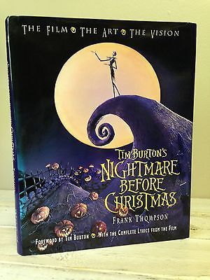 TIM BURTON'S NIGHTMARE BEFORE CHRISTMAS The Film,The Art,The Vision 1st 1st VGC