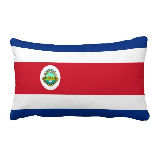 Pillow with flag of Costa Rica