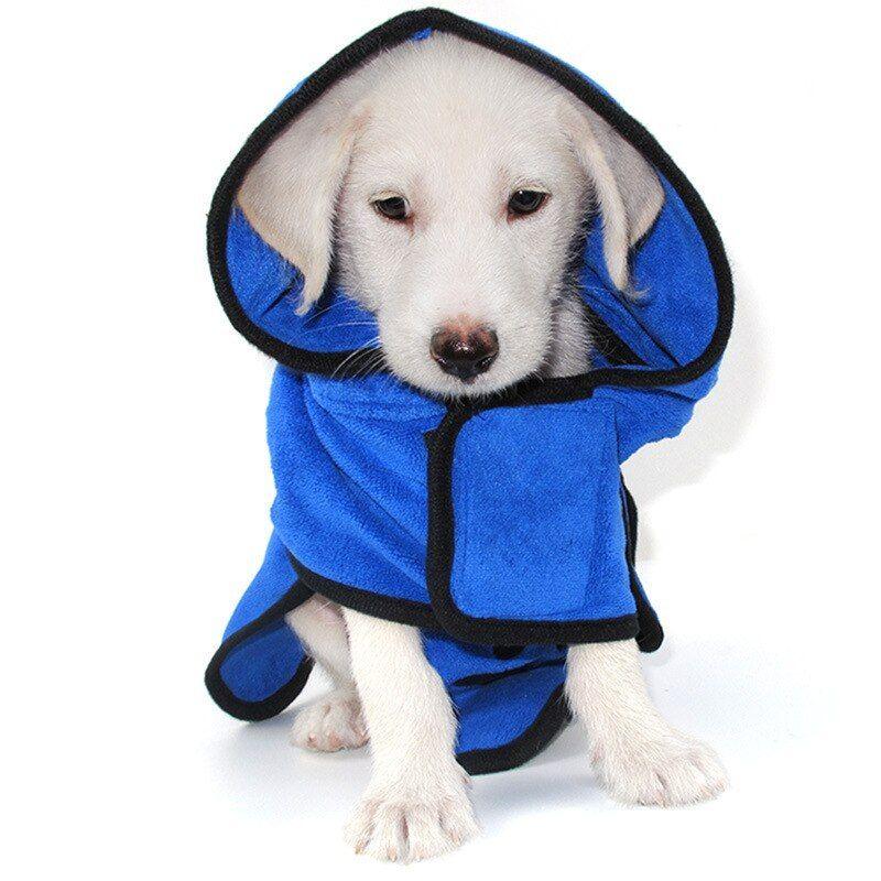 Cat Dog Bathrobe Warm Clothes Super Absorbent Pet Drying Towel