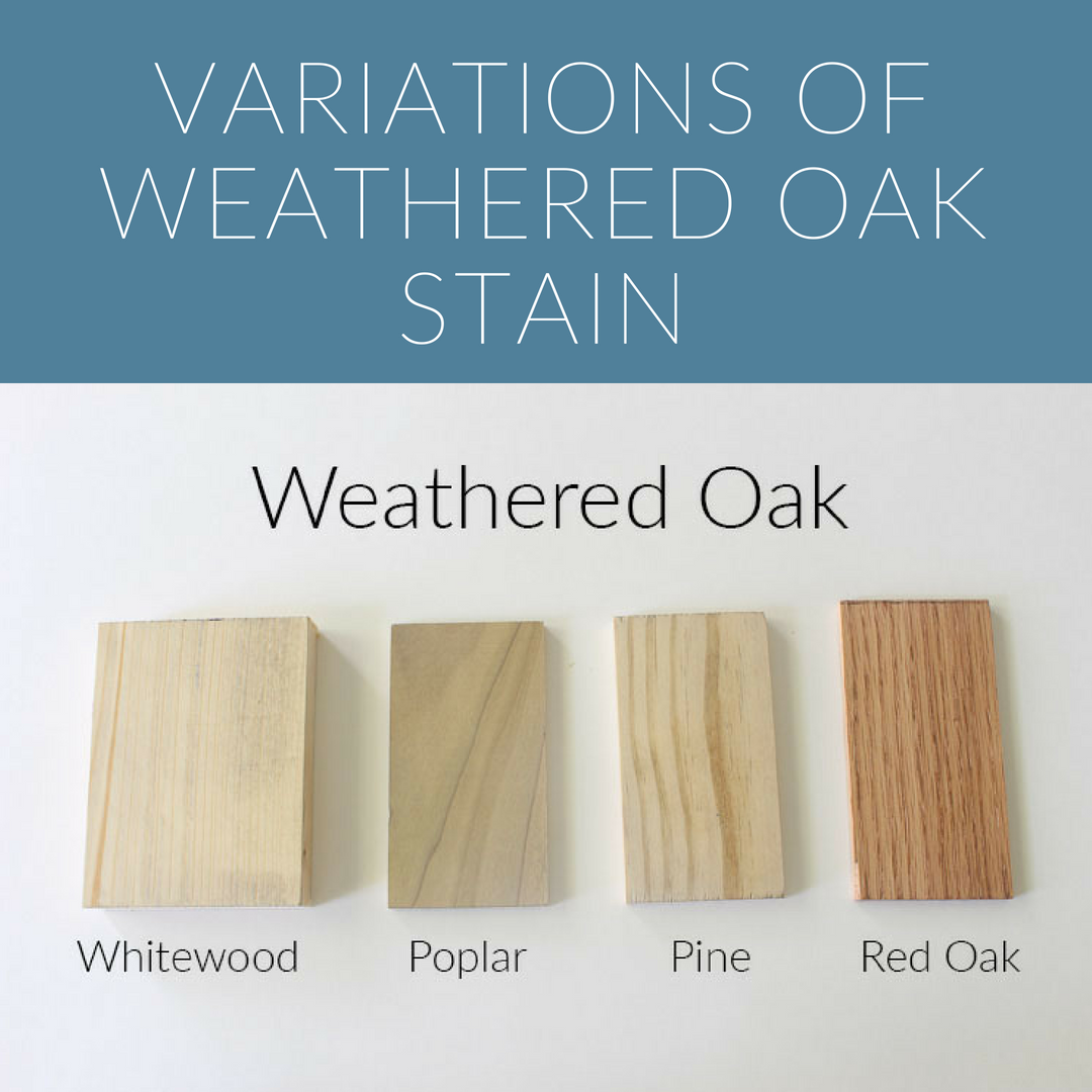 How 10 Different Stains Look On Different Pieces Of Wood Within The Grove Weathered Oak Stain Oak Wood Stain Weathered Wood Stain