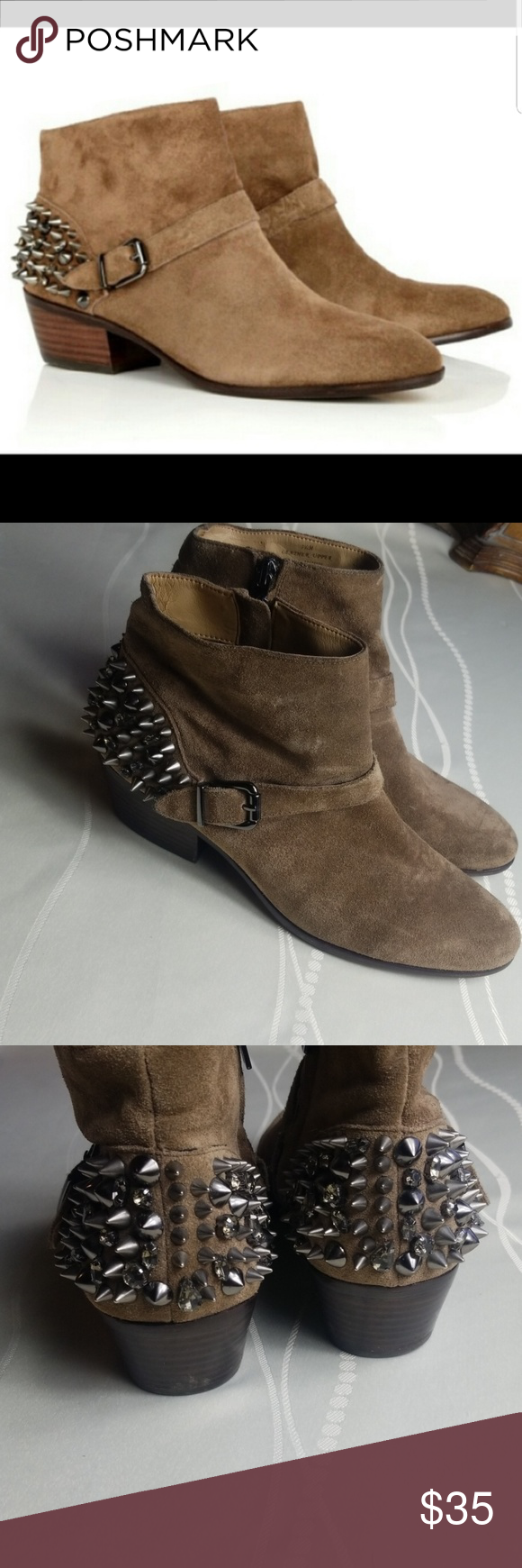 Sam Edelman Pax Booties These suede booties feature pyramid