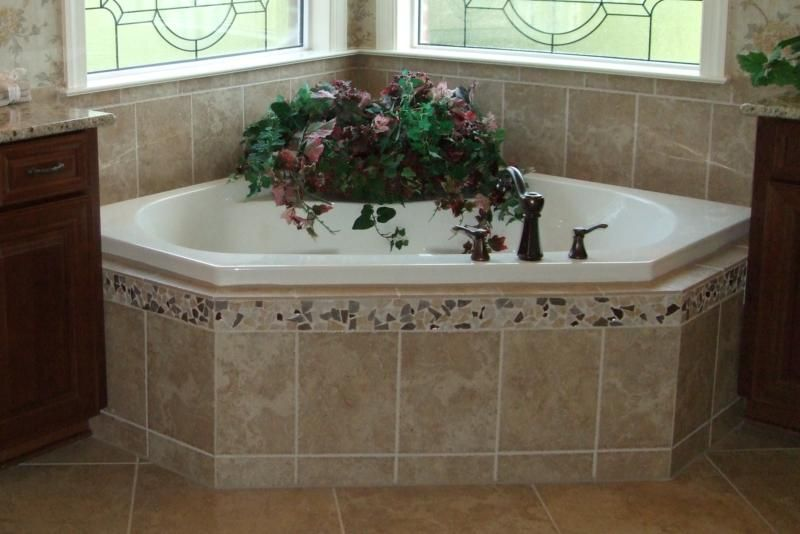 Tile tub surrounds new home ideas tile master bath for New bathtub designs