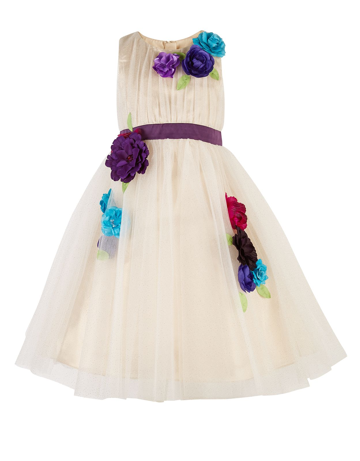 Pink and gold dress for kids  Floriferous Dress  Gold  Monsoon  Sewing for Girls  Pinterest