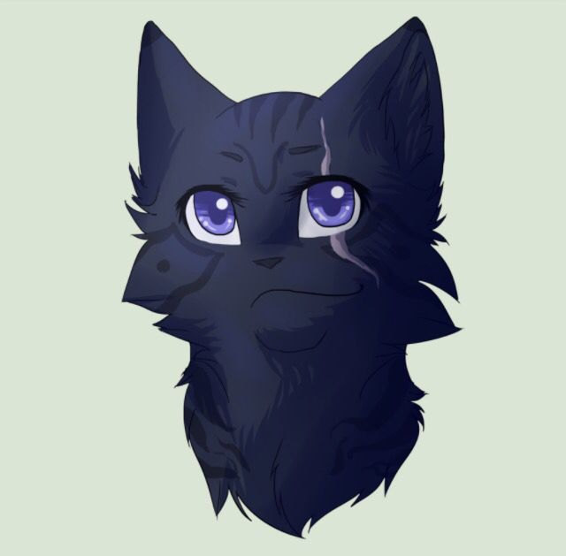 Nightsky (@Blazeclaw) is Ivystar's mate. He is a kind, strong, and level headed tom warrior. He is also very cunning and clever. He loves Ivystar with all his heart and will never let anything get to her. Mate: Ivystar. Kits: none.