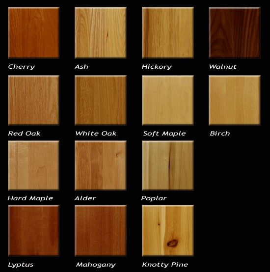 some popular types of wood used for furniture