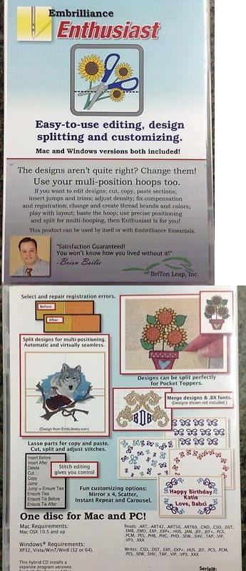 Digitizing Software 71197 Embrilliance Enthusiast Embroidery
