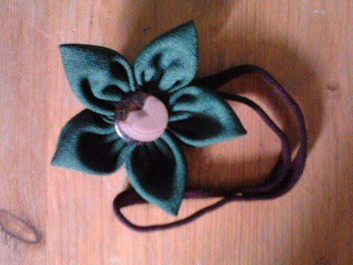 green starry flower- headband