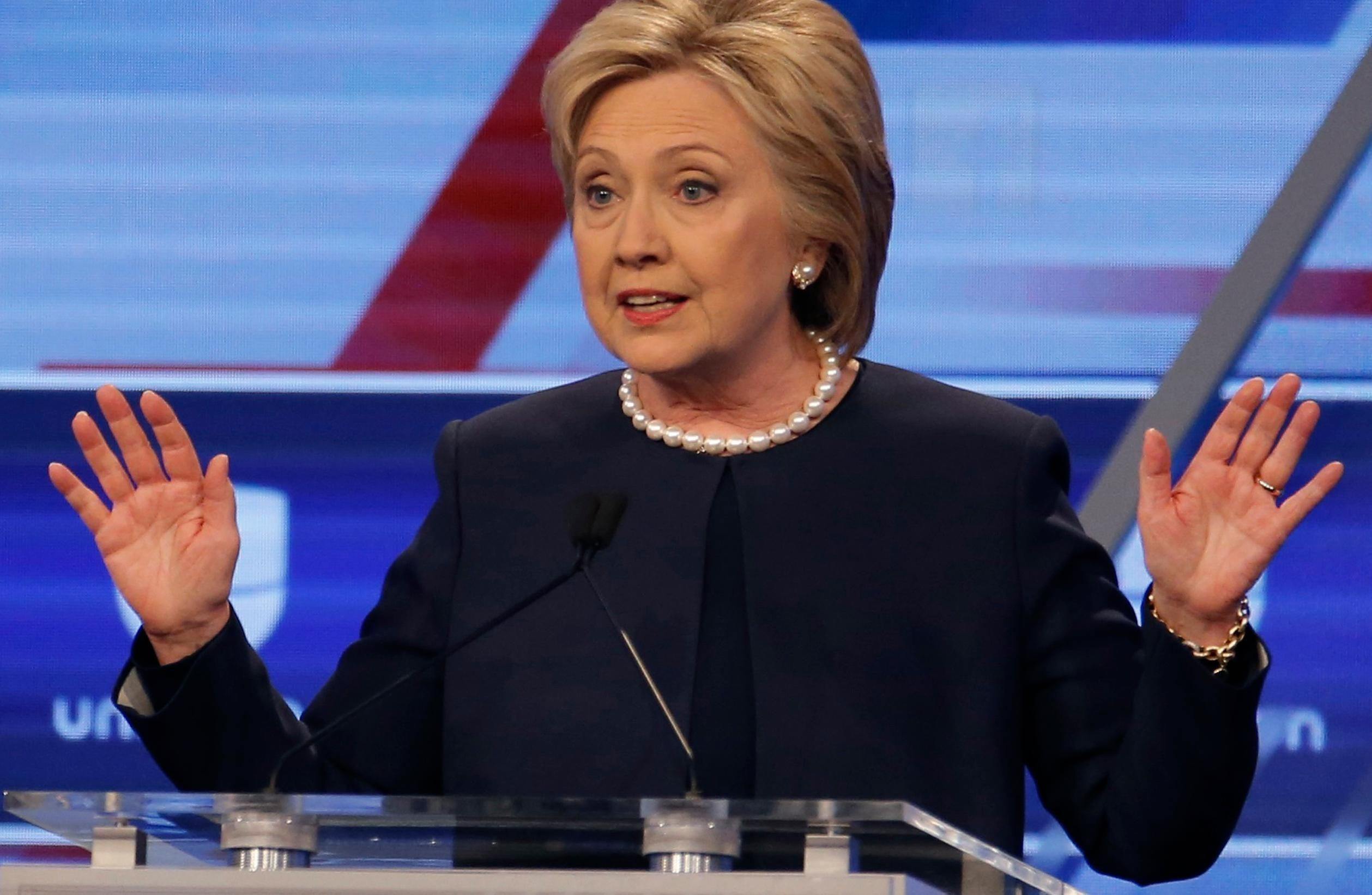 Hillary Clinton roundly dismissed a question at the Democratic debate in Miami asking whether she would step down if she was indicted over the use of a private email server when she was secretary of state.