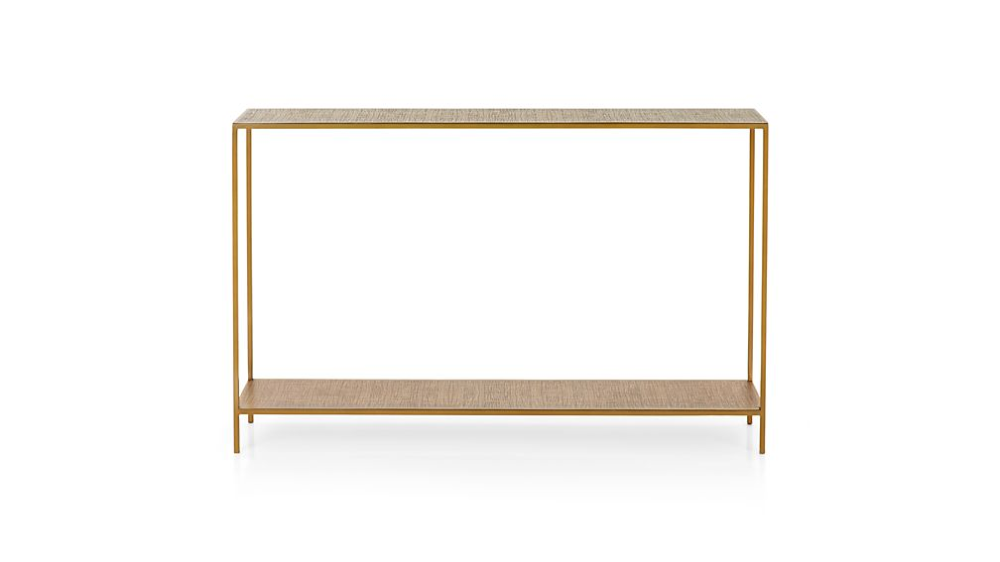 Jacque Brass Console Table Reviews Crate And Barrel Brass