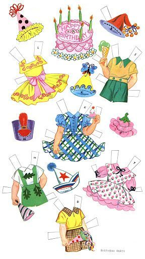 Paper Dolls~Birthday Party - Bonnie Jones - Picasa Web Albums: