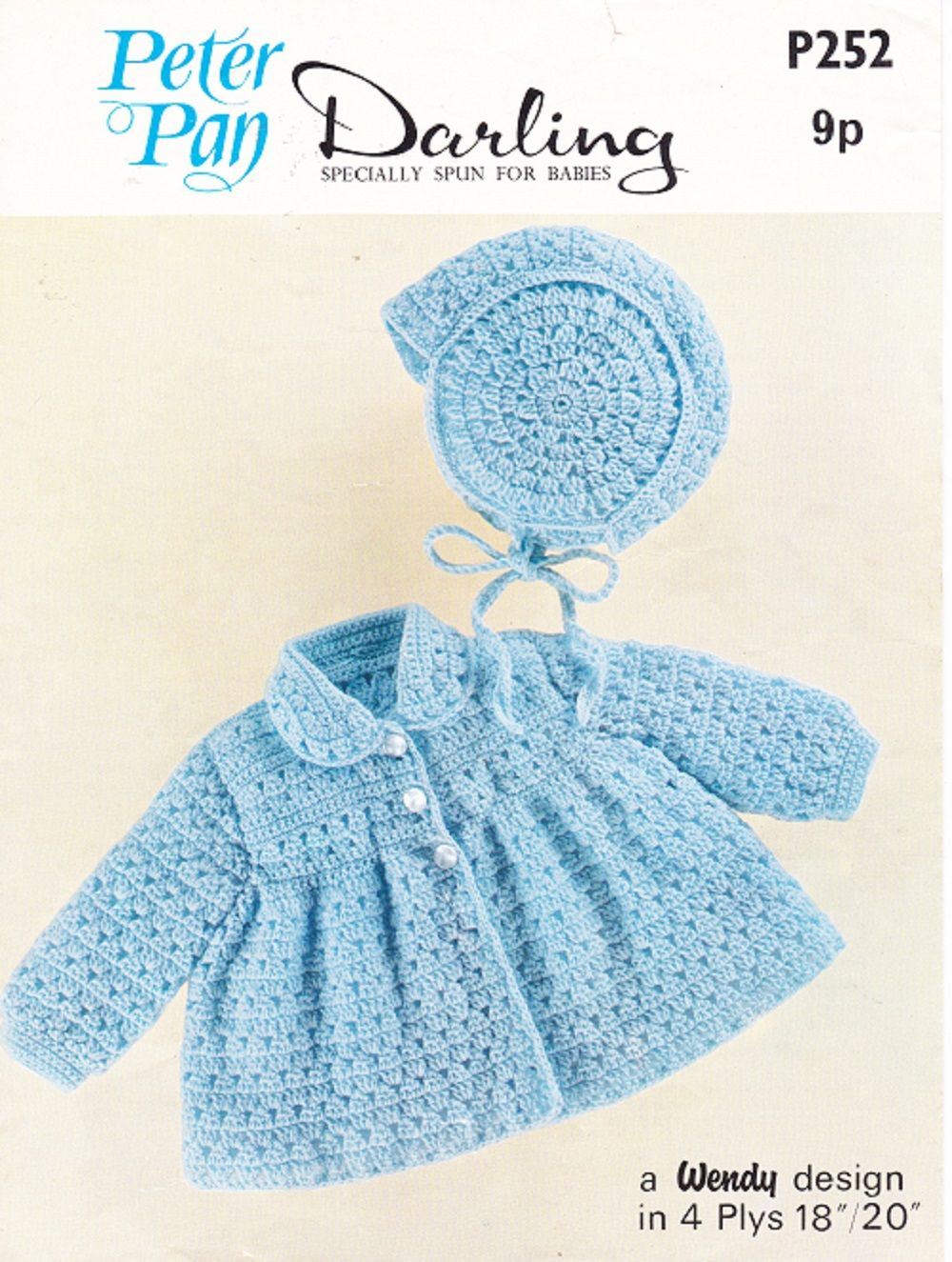 Peter pan crochet pattern p252 babys coat bonnet set peter pan crochet pattern p252 babys coat bonnet set dt1010fo