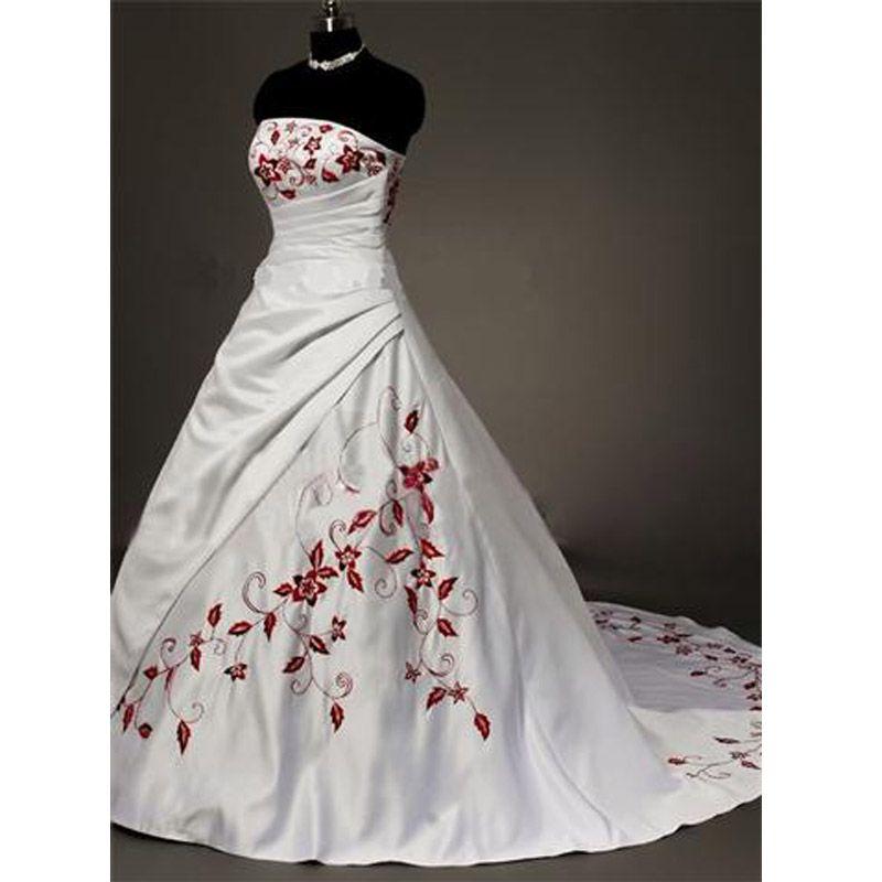 Trouwjurk Rood Met Wit.Afbeeldingsresultaat Voor Rood Met Witte Trouwjurk Decoratie In