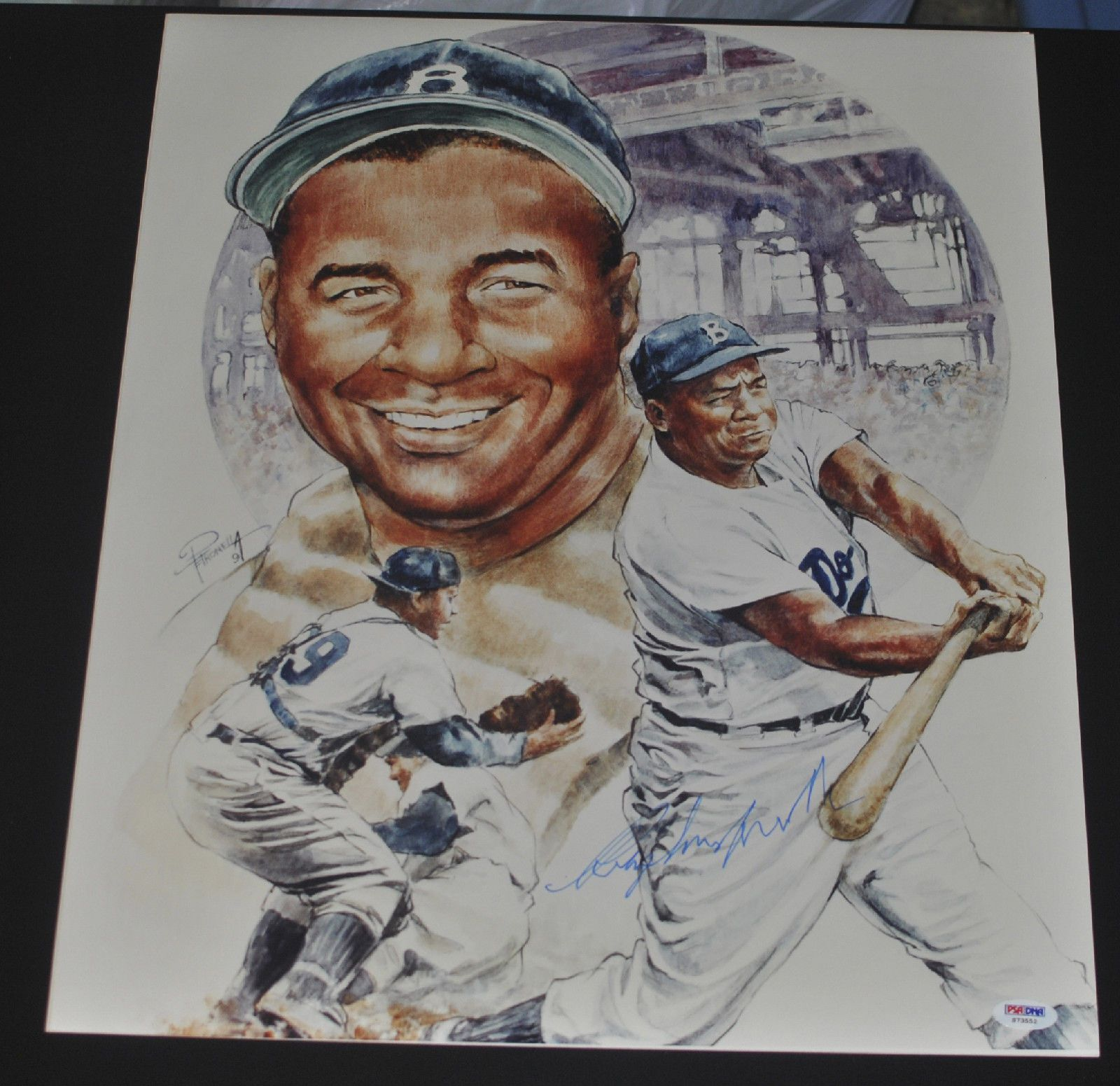 Roy Campanella Signed Post Accident Brooklyn Dodgers Lithograph PSA DNA S73552 | eBay #roycampanella #campanella #signedcard #autograph #postaccident #dodgers