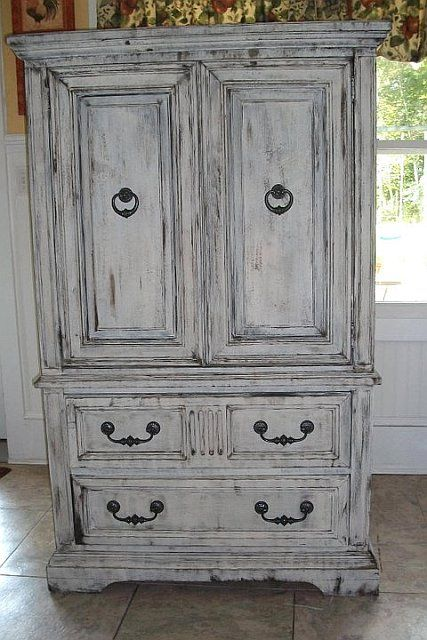 Hand Painted Distressed Armoire Home Stuff In 2019 Armoire