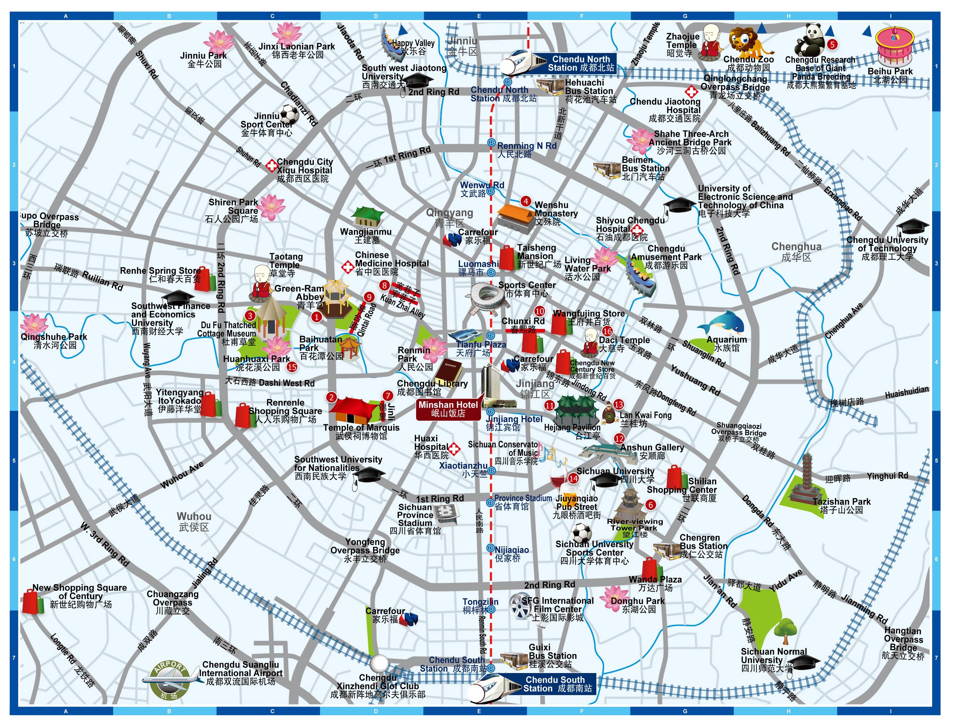Chengdu Train Station Map Train Station Map Station Map Map