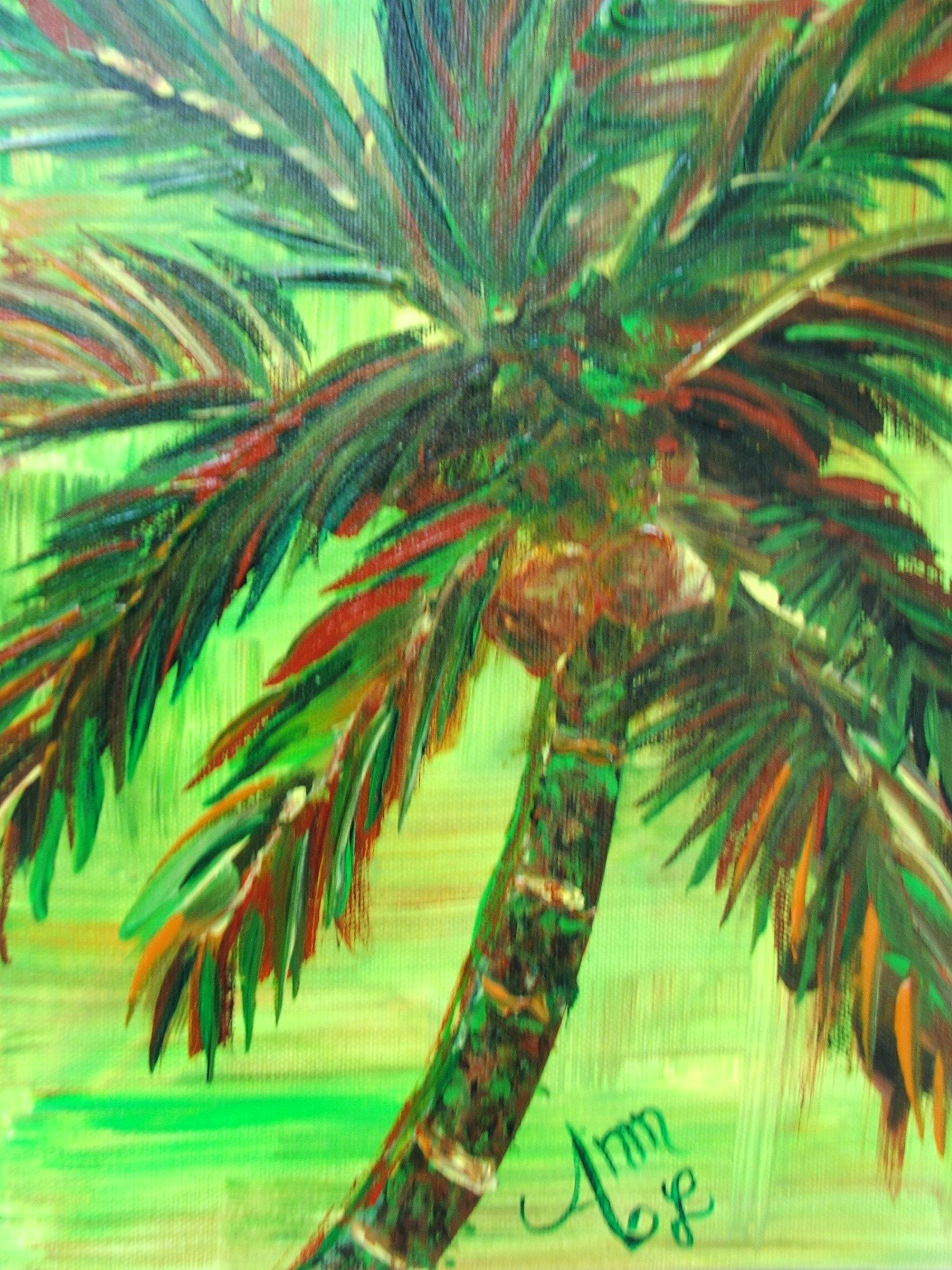 COMMISSIONED palm | #Palms | Pinterest | Palm, Palm tree paintings ...