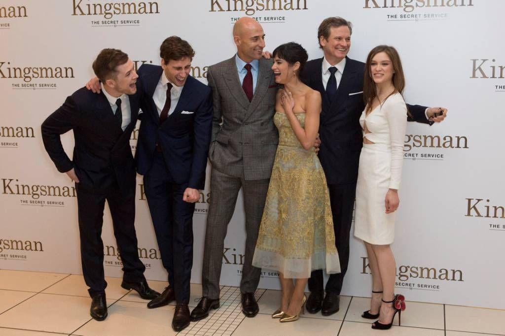 Taron Egerton Edward Holcroft Sophie Cookson Mark: Kingsman: The Secret Service World Premiere Taron Egerton