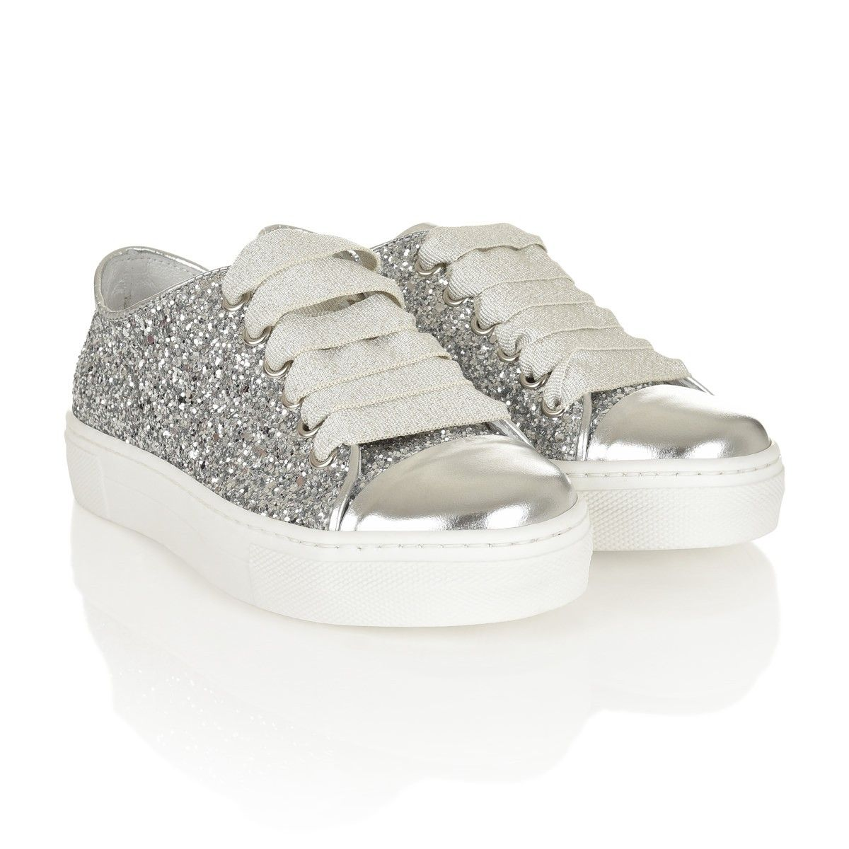 silver leather quis ballerina childrensalon outlet on girls slip shoes