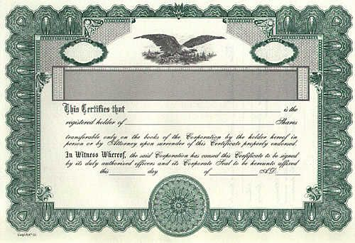 free sample corporate stock certificate best of template stock