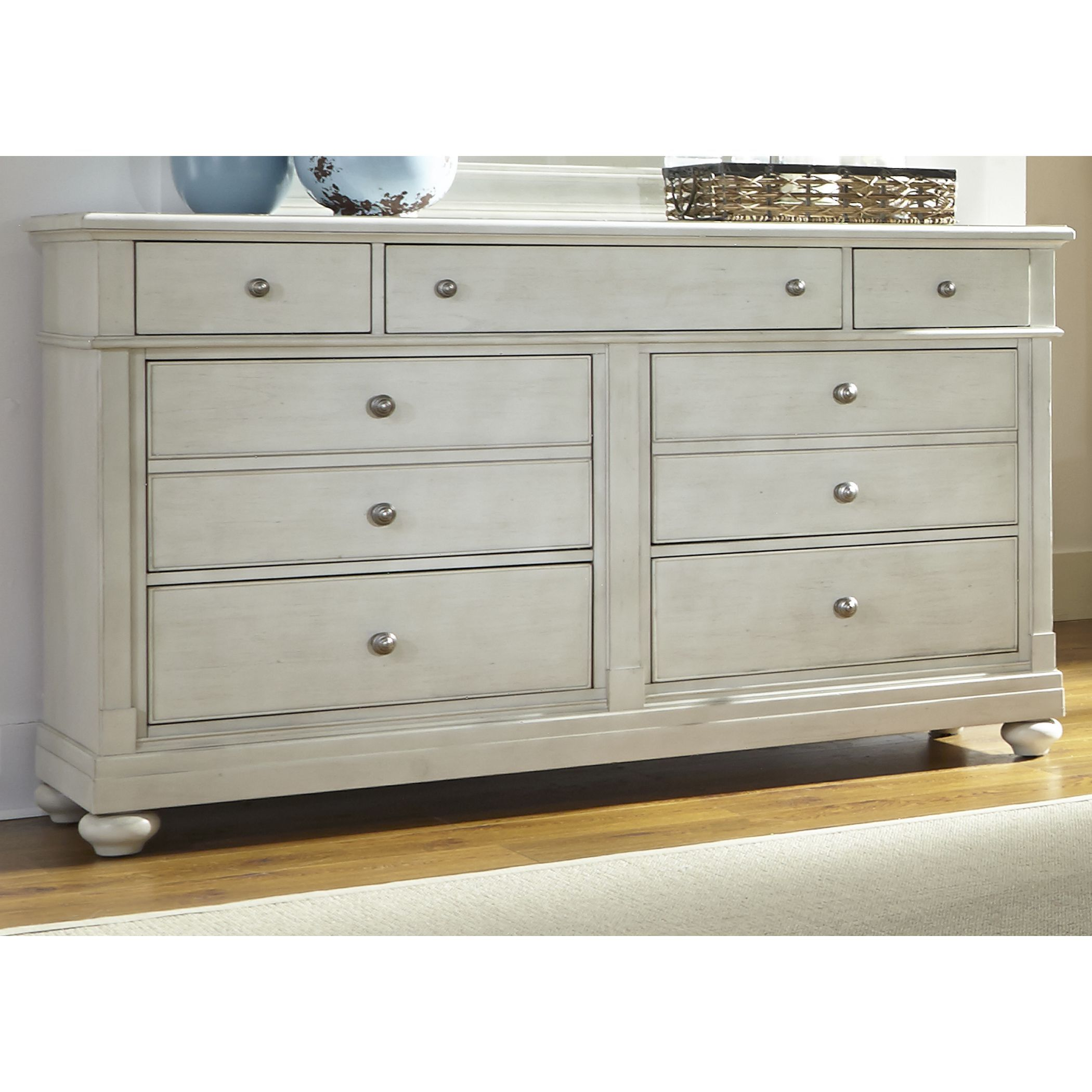 Harbor Dove Gray Cottage 7 Drawer Dresser Grey Liberty