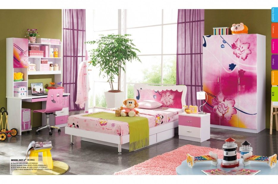 Dazzling Kids Wardrobes Ideas: Appealing Purple Curtain Color On Green Wall  Painting Idea Kids Wardrobes Finished In Pink Color