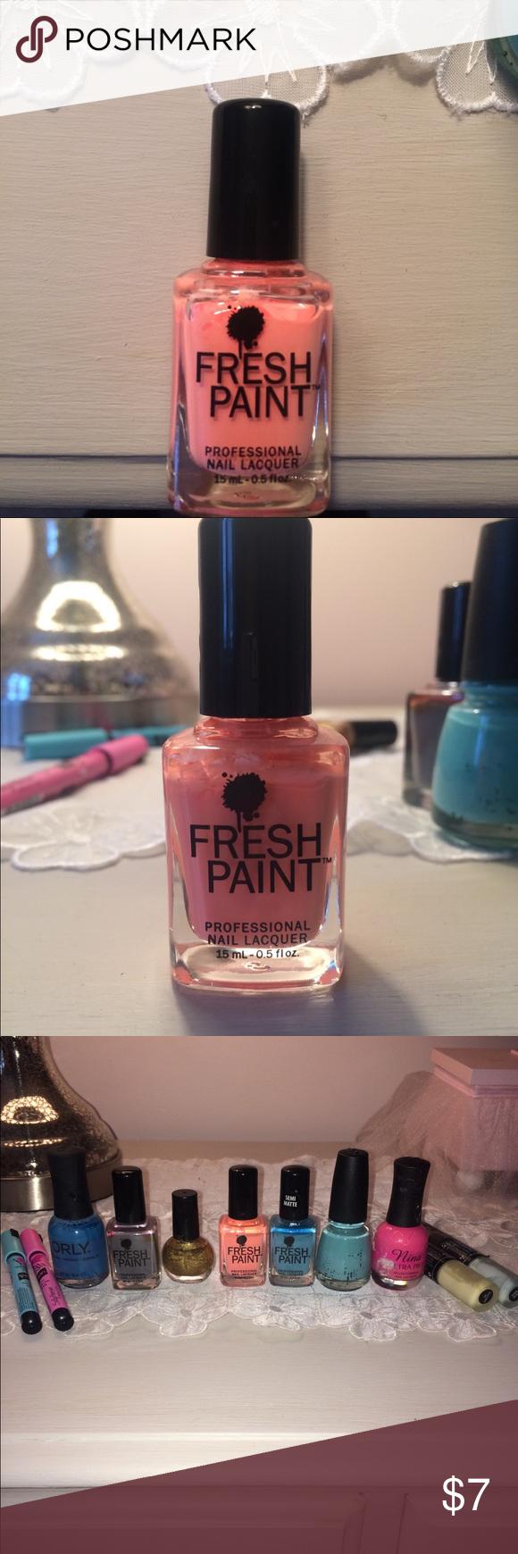Fresh Paint Nail Polish in Guava   Pinterest   Orange pink, Customer ...