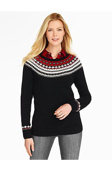 Talbots - Fair Isle Stripe Sweater   Sweaters     Talbots ...