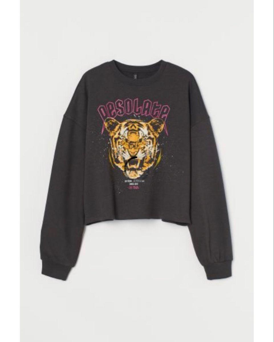 Tiger Desolate Sweatshirt In Charcoal Gray Hype Clothing Sweatshirt Fabric Black Sweatshirts [ 1200 x 961 Pixel ]