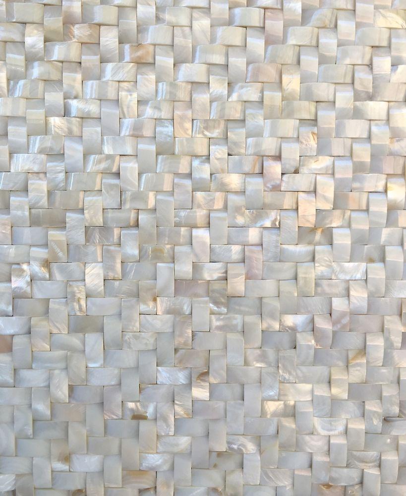 White Mother Of Pearl Shell Mosaic Tile Wavy Herringbone 12x12 Wall Backsplash Shell Mosaic Tile Herringbone Mosaic Tile Pearl Tile