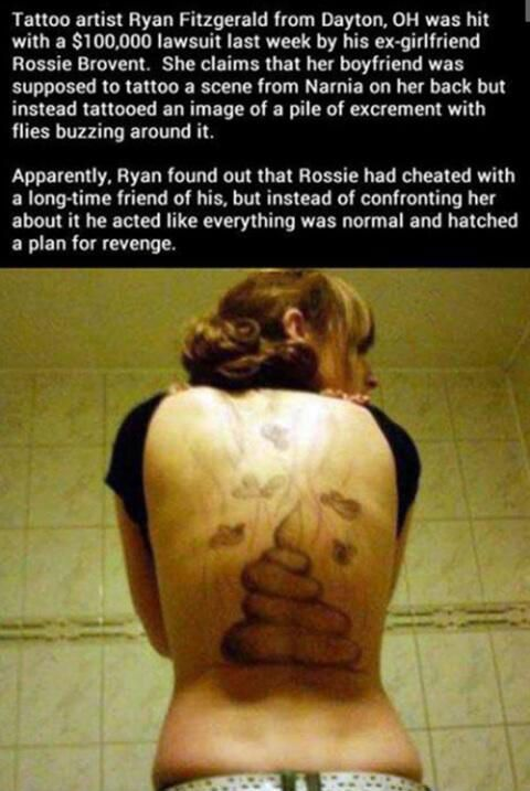 Girl Gets A Shitty Tattoo Literally Meme Shuffle Pinterest
