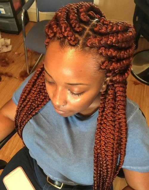 Big Braids Hairstyles Endearing Top 20 All The Rage Looks With Long Box Braids  Big Box Braids