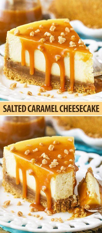 Salted Caramel Cheesecake | Easy Homemade Caramel Cheesecake